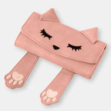 Women Fashion Cute Cat Small Handbag Long Wallet Purse