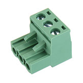 10pcs 2 EDG 5.08mm Pitch 3Pin Plug-in Screw PCB Terminal Block Connector Right Angle