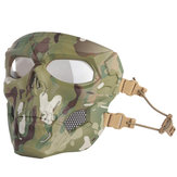WoSporT Tengkorak Airsoft Paintball Masker Full Face Tactical Halloween Party Masker