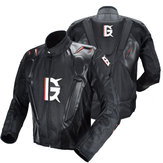 GHOST RACING ™ Veste de moto en cuir PU Racing Body Armor Protection Vêtements de motocross pour motards Vêtements de protection