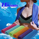 KCASA 30x90cm 16 ℃ Microfiber Draagbaar sneldrogend Sport Handdoek Reizen Joggerdoek Camping Zwemmen Gym Washandje