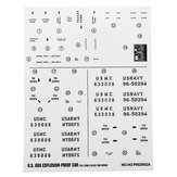 HG P602 1/12 RC Car Model Spare Parts DIY Stickers Decals Sheet for Body Accessory