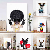 Cute Dog Art Wall Sticker Print Poster Modern Painting Decor Living Room Decor