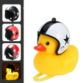 Cartoon Duck Fietsbellen Stuur Duck LED Head Light Ring Wind Duck & Helm