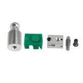 Verbesserter Extruder Hotend HeatSink Satz PT100 V6 Heizblock für 1,75 mm Prusa i3 3D-Drucker