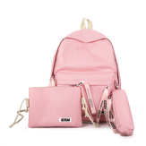 3 Pcs/Set Women Nylon Backpack Crossbody Bag Pencil Case Waterproof Teenage Girls School Stationery Supplies