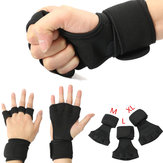 1 Pair Weightlifting Gloves Strength Training Fitness Gloves Wrist Wrap Exercise Sports Wrist Support