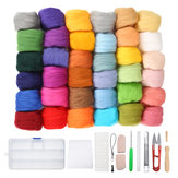 36 Colour Wool Felt Needles Tool Set Needle Felting Mat Starter DIY Kit With Box