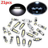 21pcs Blanco Interior LED Coche Kit de bombillas para BMW Serie 5 M5 E60 E61 (04-10)