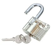 Transparent Cutaway Inside View Of Practice Padlock Lock Locksmith Trainer Skill Pick with Two Keys