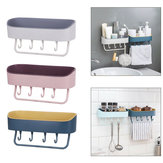 Self-adhesive Wall Hanging Storage Rack Shelf Hook Home Kitchen Holder Organizer Towel Holder