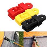24 PCSプラスチック再利用可能なテントクリップテントバックル屋外キャンプテントツールイエロー/レッド/ブラック