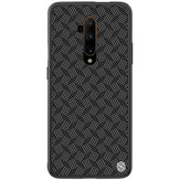 For OnePlus 7T Pro Case NILLKIN Lattice Pattern Double-Layer Carbon Fiber Ultra-thin Anti-Scratch Non-Slip Protective Case