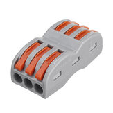 Excellway 3Pin Wire Docking Connector Termainal Block Universeel Quick Terminal Block SPL-3 Electric Cable Wire Connector Terminal 0.08-4.0mm²