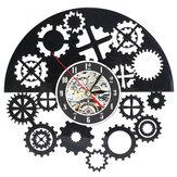 Zegar ścienny Steampunk Cog Gears Vinyl Record Zegar ścienny Home Office Decor