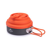 Naturehike 1.6L Folding Whistling Pot Pan Com Silicone Tampa Camping Piquenique Talheres
