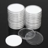 20pcs porte-monnaie ronde en plastique boîte de rangement portable boîtes contenant 5 taille pad