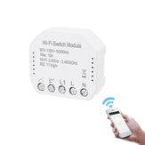 MoesHouse 90 В-130 В Wifi Smart Light Switch Модуль Diy Breaker Smart Life / Tuya APP Дистанционное Управление Работает с Alexa Echo Google Home 2-позиционный переключатель