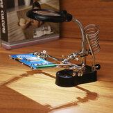 LED-licht Soldeerbout Stand Holder Helpende handen Vergrootglas Vergrootglas Derde hand vergrootglas