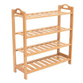 2/3/4/5 Tier Shoe Storage Racks Cabinet Shelf Wooden Stand Home Organizer Bamboo