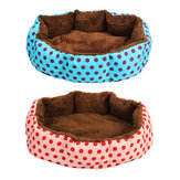 Cat Dog Pet Bed Soft Cuscino per cuccioli Nest Coperta lavabile con materassino per cuccia calda