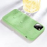 Cafele Pürüzsüz Darbeye Soft Sıvı Silikon Kauçuk Arka Kapak Koruyucu Kılıf iPhone 11 için Pro 5.8 inç
