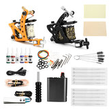Complete tattoo-set 2-delige tattoo-machine Set inktnaalden Voedinggreep