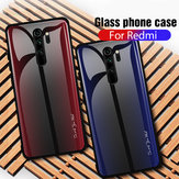 Bakeey Carbon Fiber Gradient Color Tempered Glass Protective Case for Xiaomi Redmi  Note 8 Pro Non-original