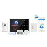 CS108 WiFi+GSM+GPRS 3 IN 1 Network Intelligent Voice Home Alarm System 433MHz