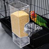 التلقائي ذكي الطيور الطاعمون زرزور الببغاء حاويات المواد الغذائية شفافة تغذية الحيوانات الأليفة الأجهزة