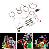 DIY LED Lamba Dize Kit Bölüm Için Lego 10267 Ev Modeli Bina Gingerbread Flash