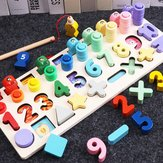 Counting Board Nursery Learning Shape Pairing Montessori Math Toys Wooden Baby Gift