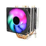 LANSHUO CPU Silent Dual Fan 4 Heat Pipe 3 Wire Intelligent Temperature Control CPU Cooler Cooling Fan for Intel 775/1150/1151/115 U8Z6