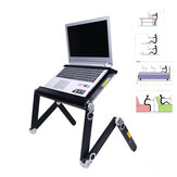 Portable 360° Folding Bed Laptop Desk Stand Holder Suitable Computer Notebook Under 17inch With Cooling Fan