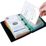 Deli 5778 держатель для визитных карточек с отрывными листами, легко классифицируемый и устанавливаемый на рабочий стол, буклет для хранения и