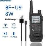 BAOFENG BF-U9 8W Mini Portátil Walkie Talkie Transceptor de HF de Rádio Comunicador de Rádio Civil do Hotel de Mão