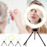Photography LED Mirrors Selfie Ring Light 260MM Dimmable Camera Phone Lamp Fill Light with Table Tripods Phone Holder