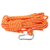 Outdoor klimtouw 8 mm diameter, 10 m (32ft) ontsnappingstouw met haak Fire Rescue Parachute Rope klimuitrusting