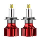 6 Sides CSP LED Car Headlights Bulbs H1 H7 H11 9005/9006 D Series 72W 9000LM 3D 360 Degree Fog Lamp 6500K White 2PCS