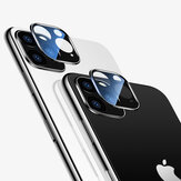 Cafele 2PCS HD Clear Tempered Glass + Metal Two in One Seamless full Covering Phone Lens Protector for iPhone 11 / Pro / Pro Max