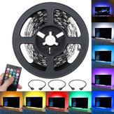 2x0,5M + 2x1M Nicht wasserdichte SMD5050 USB Musik Fernbedienung RGB LED Streifen Licht TV Hintergrund KTV Hotel Bar