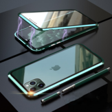 Bakeey Plating Magnetic Adsorption Metal Double-sided Tempered Glass Protective Case For iPhone 11 Pro Max 6.5 Inch