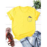 T-shirts femme manches courtes en coton d'été