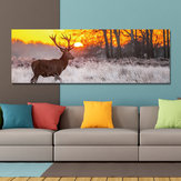 DYC 10677 Single Spray Oil Paintings Forest Sunrise Wild Deer Scenery For Home Decoration Paintings Wall Art