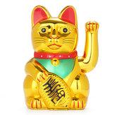 6-дюймовая китайская счастливая махающая рука Maneki Neko Gold Fortune Фен-шуй Кот Подвижная рукоятка Кукла