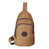 Canvas Chest Bag Multi-Function Men Crossbody Bag Shoulder Bag Leisure Travel