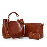 3 PCS Women Elegant Shoulder Bag Handbag Tote Bags