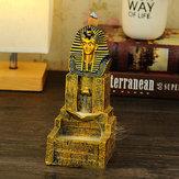 Seraphic Egyptian Pharaoh King Golden Backflow Incense Burner Holder