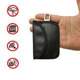 Custodia per blocco segnale chiave auto Faraday Gabbia Tasca portachiavi Pelle PU senza chiave Borsa 10,5 X 6,5 CM