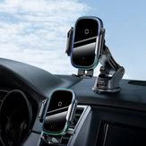 Baseus 15 W Carregador sem fio Indução infravermelha Inteligente Sensor Suporte de telefone de carro de painel de ventilação de ar para 4,7-6,5 polegadas Telefone inteligente para iPhone 11 para Samsung